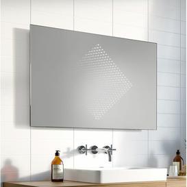 image-Phillip Bathroom Mirror Wade Logan Size: 63cm H x 100cm W x 3.2cm D