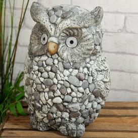 image-Ashbury Mosaic Garden Owl Solar Light Ornament Happy Larry