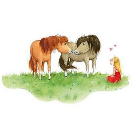 image-Horses Children's Bedroom Wall Sticker East Urban Home Size: 70cm H x 129cm W