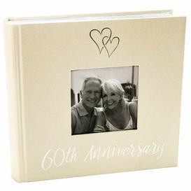 image-Diamond 60th Wedding Anniversary Photo Album The Party Aisle