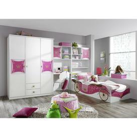 image-Kate Single Bedroom Set Rauch Ausführung (Drehtüren Kombischrank): With 3 wooden doors