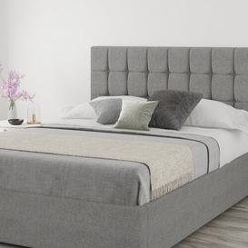 image-Wellington Upholstered Headboard Fairmont Park Size: Small Double (4'), Upholstery: Linen Grey