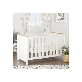 image-Aylesbury Cot Bed White &amp Ash