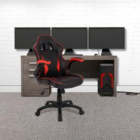 image-Anabella Ergonomic Gaming Chair Mercury Row Colour: Red