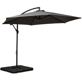 image-Royalcraft Grey 3m Standard Cantilever Over Hanging Powder Coated Parasol