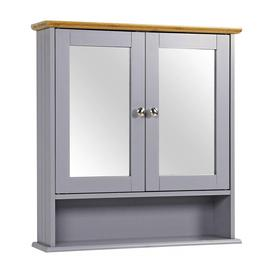image-Devencove 56cm W x 58cm H x 13cm D Wall Mounted Bathroom Cabinet