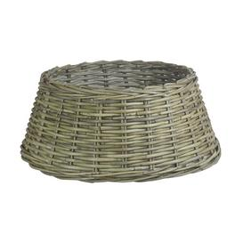 image-Christmas Tree Skirt Rattan Basket Brambly Cottage Size: 58cm H x 58cm W x 24cm D