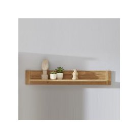 image-Berger Wooden Wall Mounted Display Shelf In Rustic Oak
