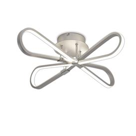 image-M5982 Bucle LED Semi Flush Ceiling Light In Silver