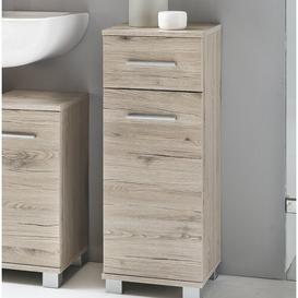 image-Haylee 30 x 80cm Free-Standing Bathroom Cabinet Zipcode Design Colour: Brown
