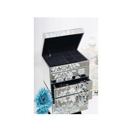 image-EMILY Venetian Mirrored Jewellery Box with 2 Drawers - gft