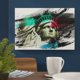 image-'The Statue of Liberty New York City' Graphic Art Print on Canvas East Urban Home Size: 50cm H x 76cm W