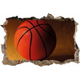 image-Orange Basketball Wall Sticker