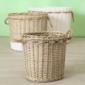 image-Wicker 3 Piece Basket Set Beachcrest Home