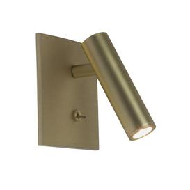 image-Enna Square LED Wall light - / Adjustable reading light - Switch by Astro Lighting Gold/Metal