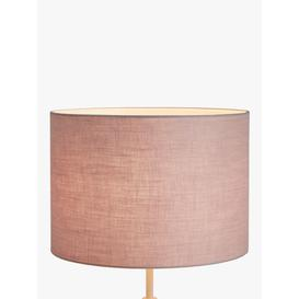 image-John Lewis & Partners Sophia Pure Linen Lampshade, Ash Rose, Dia.40cm