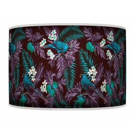 image-Polyester Drum Shade Bay Isle Home Colour: Turquoise, Size: 20cm H x 30cm W x 30cm D, Type: Floor