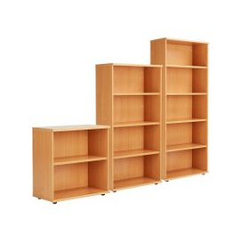 image-Proteus Bookcase, Grey Oak, Free Standard Delivery