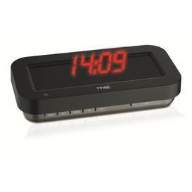 image-Desk Clock Symple Stuff Colour (Display): Red