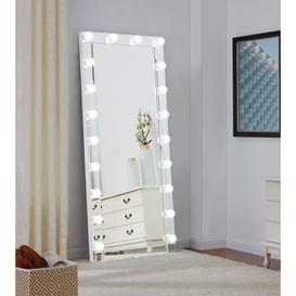 image-Hollywood Rectangular Floor Lighting Mirror - 70cm x 170cm