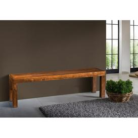 image-Oxford Wood Bench Massivmoebel24 Size: H45 x W240 x D42cm