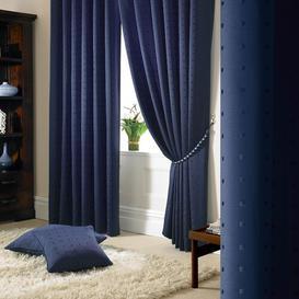 image-Bersum Pencil Pleat Curtains Three Posts Colour: Navy, Panel Size: 228 W x 182 D cm