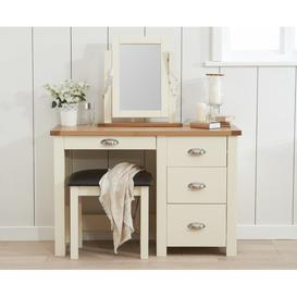 image-Somerset Oak and Cream Dressing Table Set