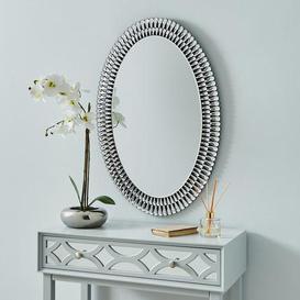 image-Glam Gem Edge Oval Mirror Black