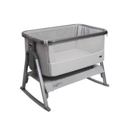 image-Cozee Rocking Bedside Crib with Mattress Tutti Bambini Colour: Space/Slate Grey