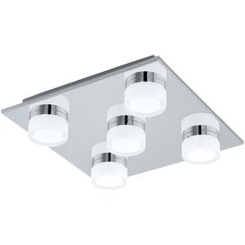 image-Eglo 94654 Romendo 4 Light Bathroom Flush Ceiling Light In Chrome