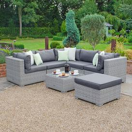 image-Mankato Garden Sofa with Cushions Sol 72 Outdoor Colour: White Wash
