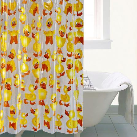 image-Cheeky Duck Shower Curtain Yellow