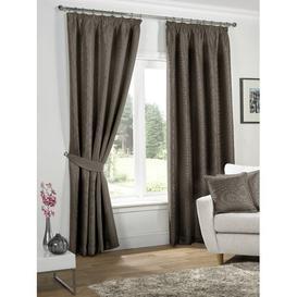 image-Alayah Pencil Pleat Blackout Thermal Curtains Marlow Home Co. Size per Panel: 114 W x 137 D cm, Colour: Mocha