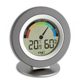 image-Circular Indoor Digital Thermo - Hygrometer Symple Stuff