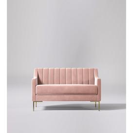 image-Swoon Febe Two-Seater Sofa in Midnight Soft Wool
