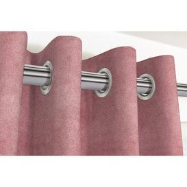 "image-Matt Blush Pink Velvet Curtains, 405cm(w) x 182cm(d) (159"" x 72"")"
