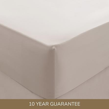 image-Dorma 300 Thread Count 100% Cotton Sateen Plain Fitted Sheet Blush