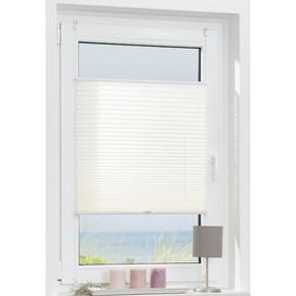 image-Lorine Semi-Sheer Pleated Blind Zipcode Design Size: 90cm W x 210cm L, Colour/Finish: White