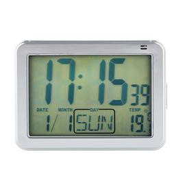 image-Constant Large Display Digital Alarm Clock - Silver