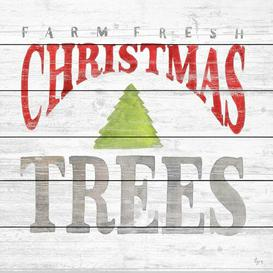 image-'Farm Fresh Christmas II' Textual Art on Wood East Urban Home Size: 61cm H x 61cm W