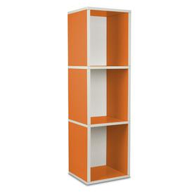 image-Narrow 114cm Cube Bookcase Symple Stuff Colour: Orange