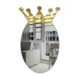 image-Decorative Oval Acrylic Mirror In The Crown