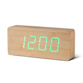 image-Modern Digital Wood Electric Alarm Tabletop Clock Symple Stuff Finish: Beech/Green