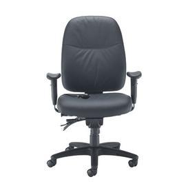 image-High-Back Ergonomic Office Chair Symple Stuff Colour: Black PU