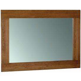 image-Rustic Oak Rectangular Wall Mirror - 130cm x 90cm - Devonshire Furniture