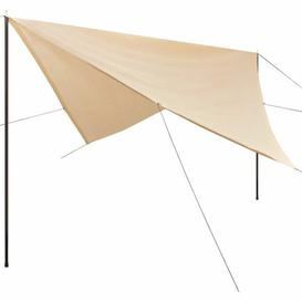 image-Tayla 4m x 4m Square Shade Sail Sol 72 Outdoor Colour: Cream