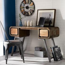 image-Aspen Reclaimed Iron & Wooden Furniture Writing Desk