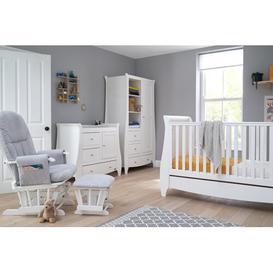 image-Lucas Cot Bed 5-Piece Nursery Furniture Set Tutti Bambini Colour: White