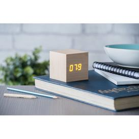 image-Modern Digital Wood Electric Alarm Tabletop Clock Symple Stuff Finish: Maple/Orange
