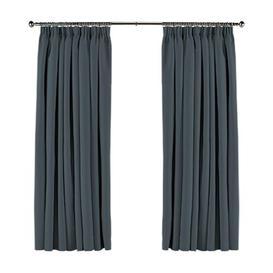 image-Koemi Ambassador Pencil Pleat Room Darkening Curtains August Grove Colour: Denim, Panel Size: 275 W x 135 D cm